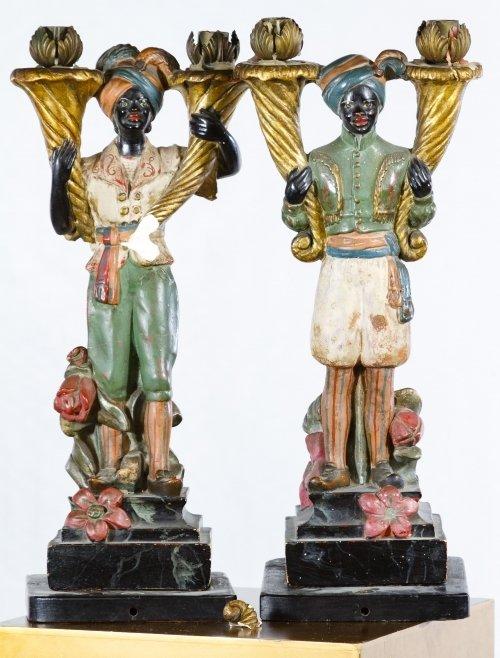 Asian Painted Wood Pedestal - 2