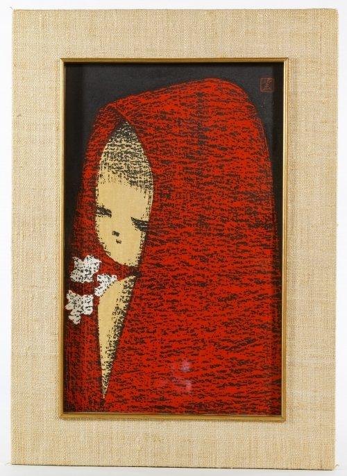 Kaoru Kawano (Japanese, 1916-1965) Woodblock Print