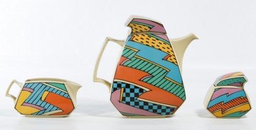 Rosenthal 'Flash' Teapot, Creamer and Sugar Bowl