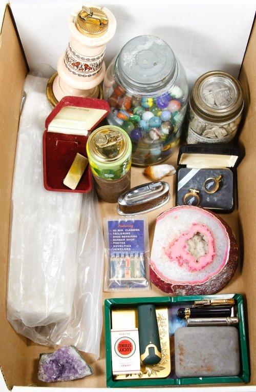 Lighters, Quartz, Marble and Lead Assortment