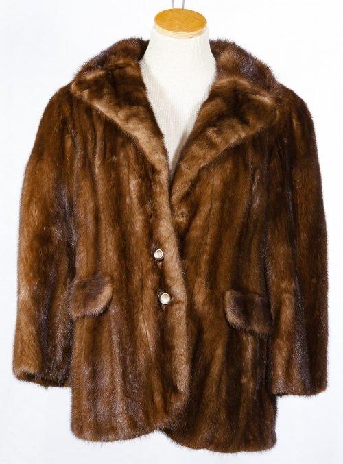 Mink Fur Car Coat