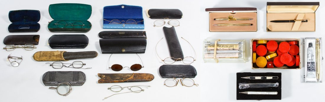 Antique Eyeglasses and Case Assortment