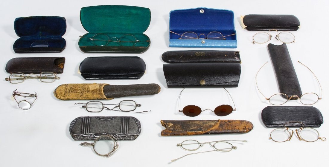 Antique Eyeglasses and Case Assortment - 2
