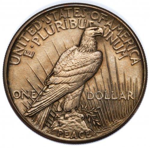 1921 $1 Peace AU+ - 2