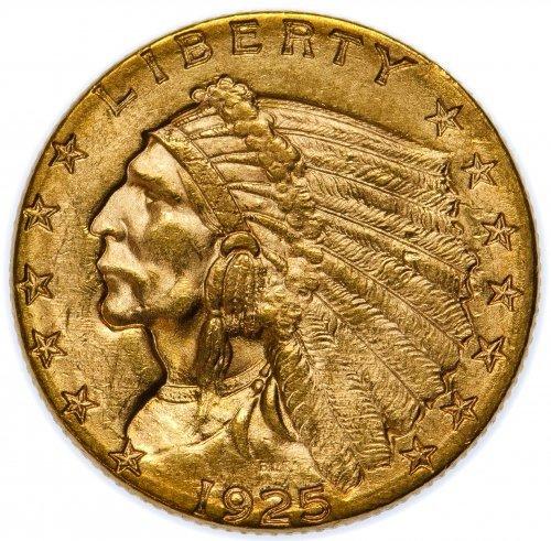 1925-D $2 1/2 Gold Unc. Details