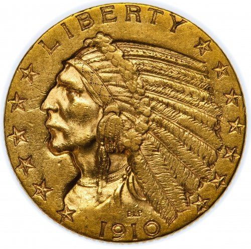 1910-S $5 Gold XF
