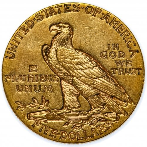 1910-S $5 Gold XF - 2