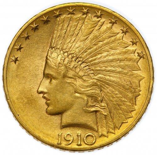 1910-D $10 Gold Unc.