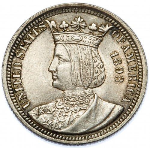 1893 25c Isabella AU Details