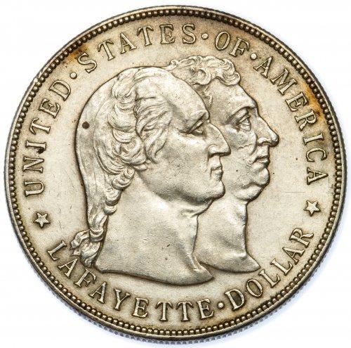 1900 $1 Lafayette AU Details