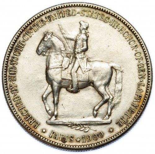 1900 $1 Lafayette AU Details - 2