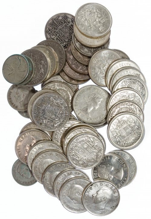 Canada: 50c and 25c Silver Assortment