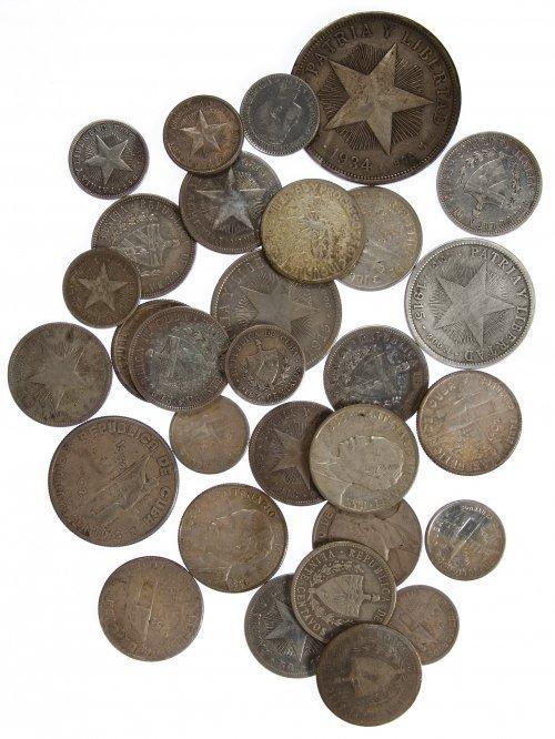 Cuba: Silver Coin Assortment