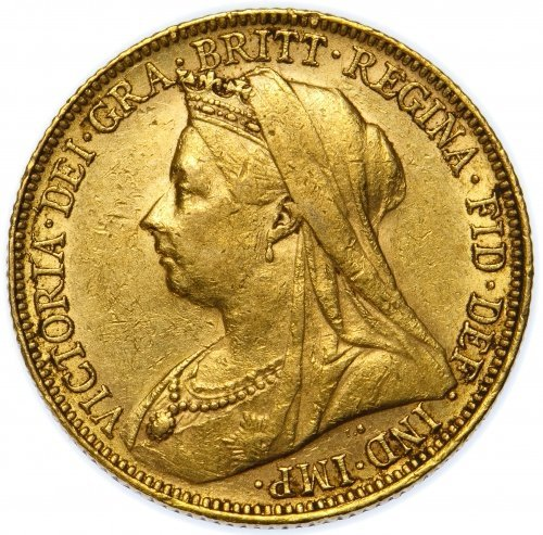 Great Britain: 1899 Gold Sovereign VF