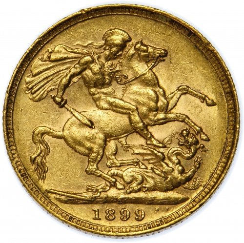 Great Britain: 1899 Gold Sovereign VF - 2