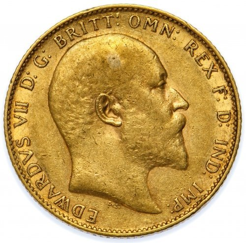 Great Britain: 1909 Gold Sovereign VF