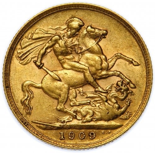 Great Britain: 1909 Gold Sovereign VF - 2
