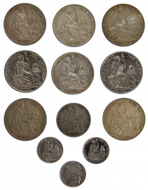 Peru: Silver Coin Assortment