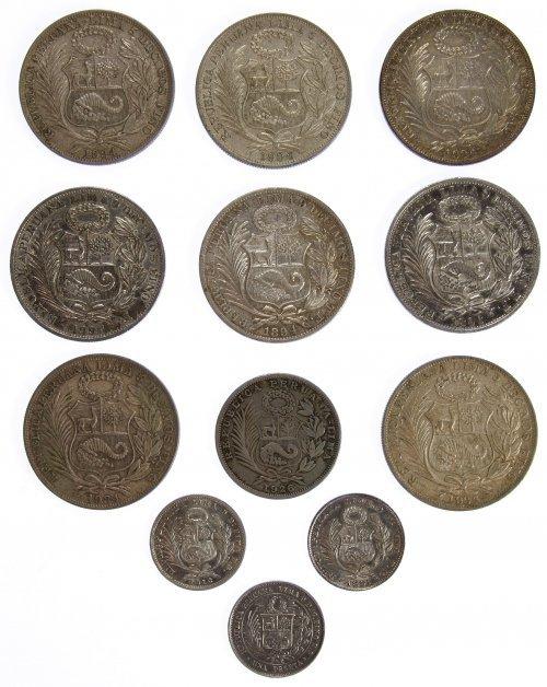 Peru: Silver Coin Assortment - 2