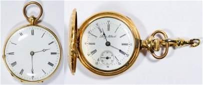 14k Gold Open Face Pocket Watch