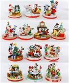 Disney Christmas Ceramic Figurine Assortment by Grolier