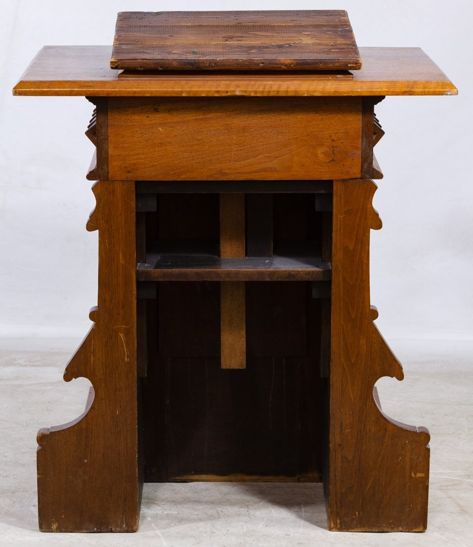 Jacobean Style Mixed Wood Pulpit - 2