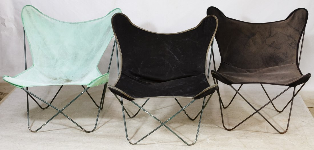Butterfly Lounge Chairs (Attributed to) BKF
