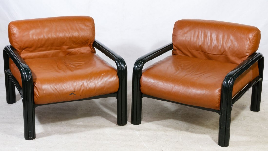 Mid-Century Modern Lounge Chairs by Gae Aulenti for