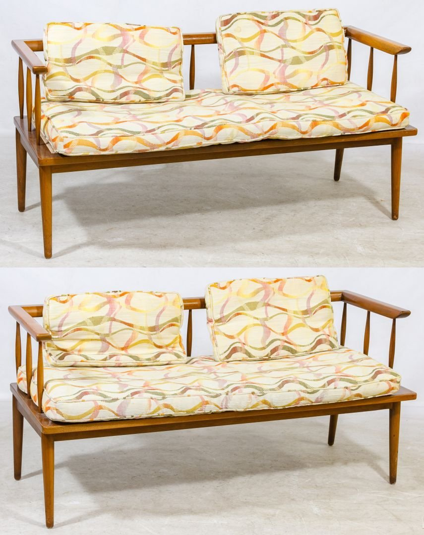 Mid-Century Modern Upholstered Benches