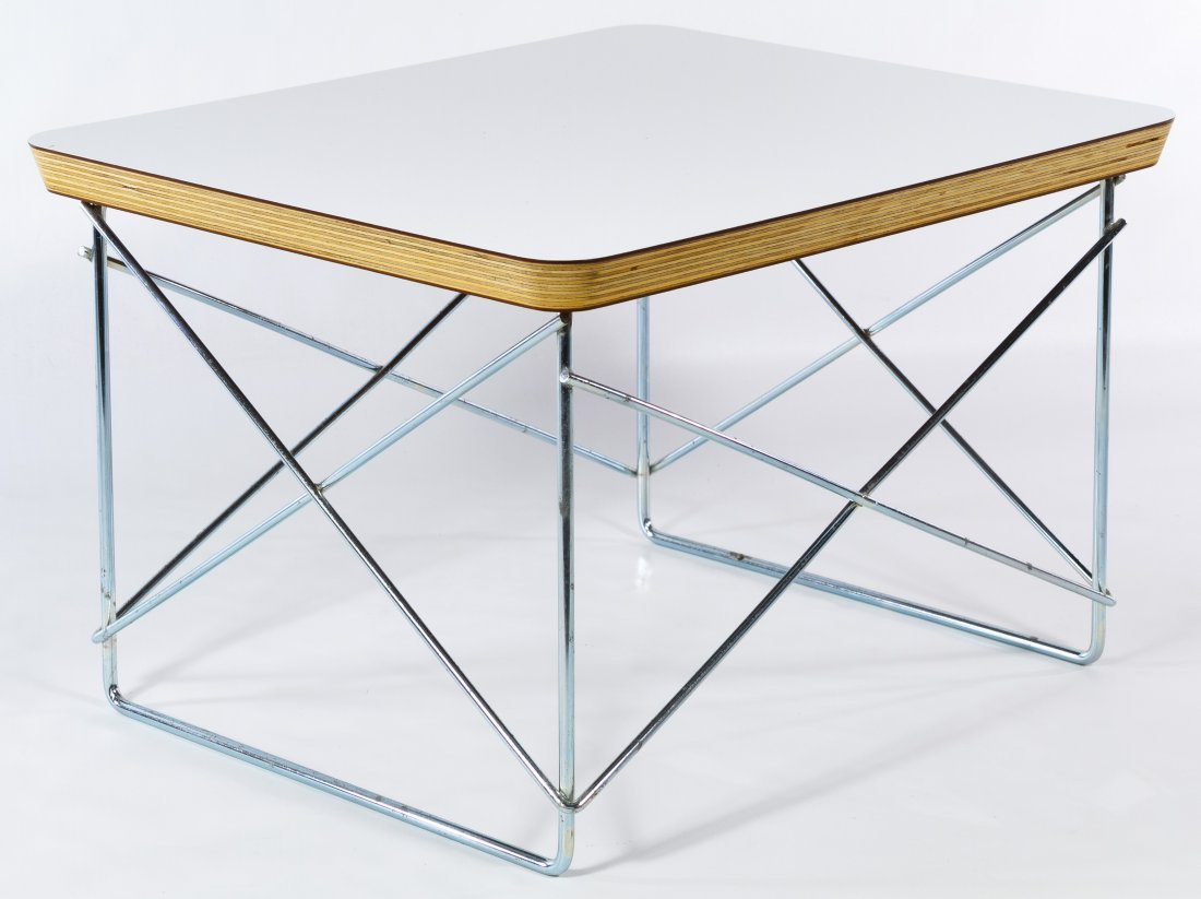 Mid-Century Modern Wire Base Table by Eames for Herman