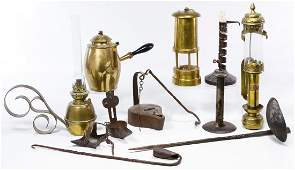 Cast Iron and Brass Lighting Devices