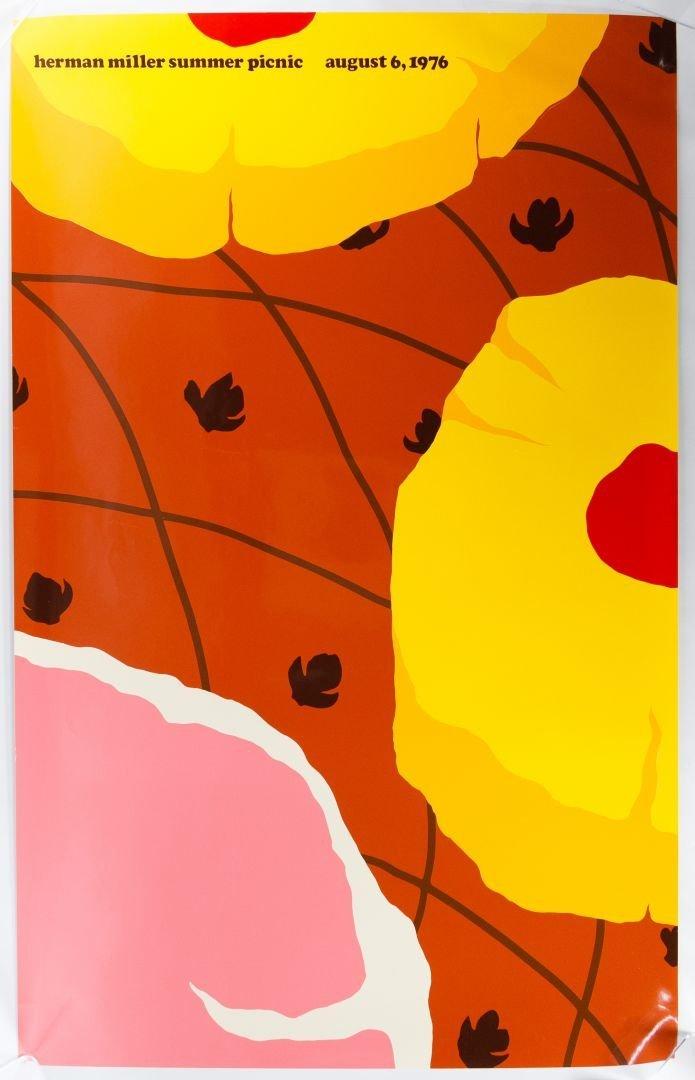 1976 Herman Miller Summer Picnic Poster