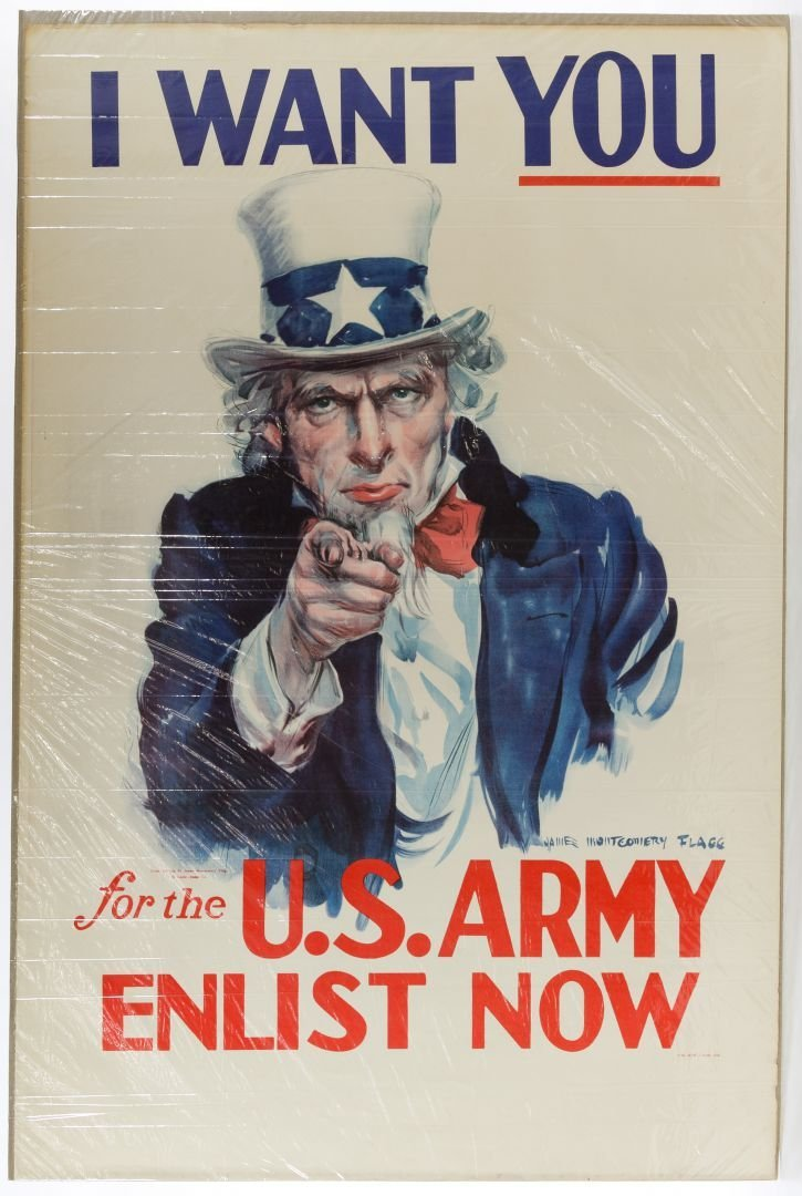 World War II 'I Want You' Poster by James Montgomery