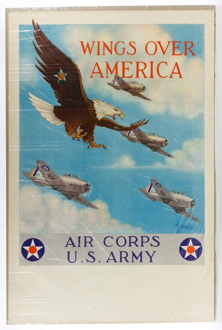 World War II 'Wings Over America' Poster by Tom