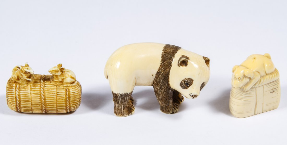 Asian Ivory Netsuke Assortment