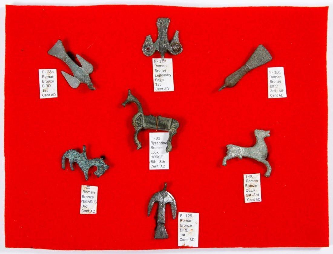 Roman / Byzantine Bronze and Silver Fibula Pin