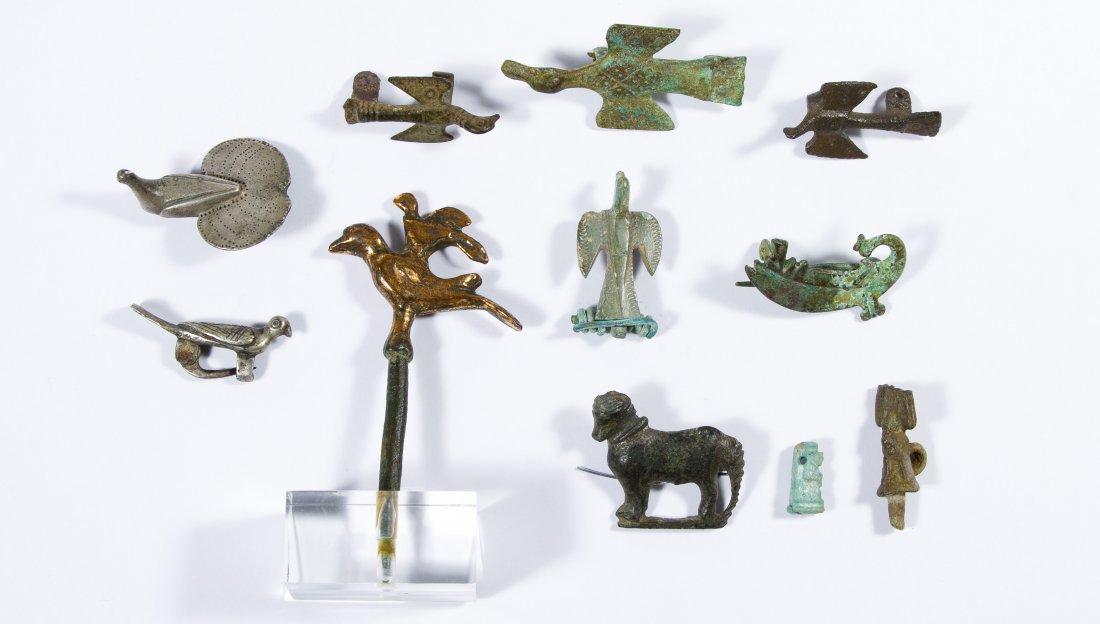 Roman / Byzantine Bronze and Silver Fibula Pin - 2