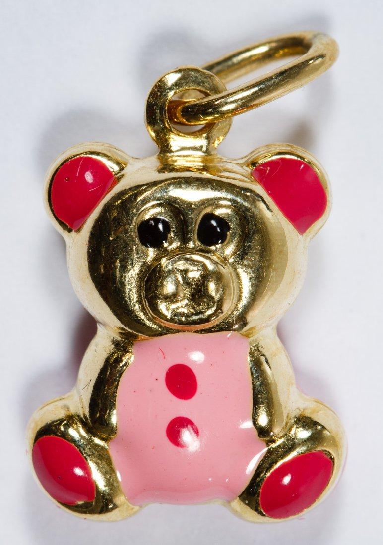 18k Gold Teddy Bear Charm