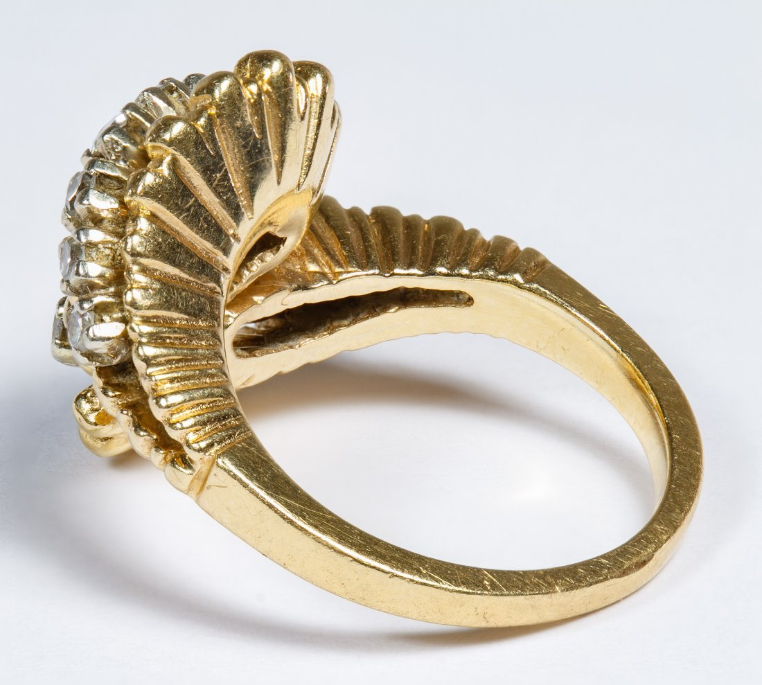 14k Gold and Diamond Ring - 2