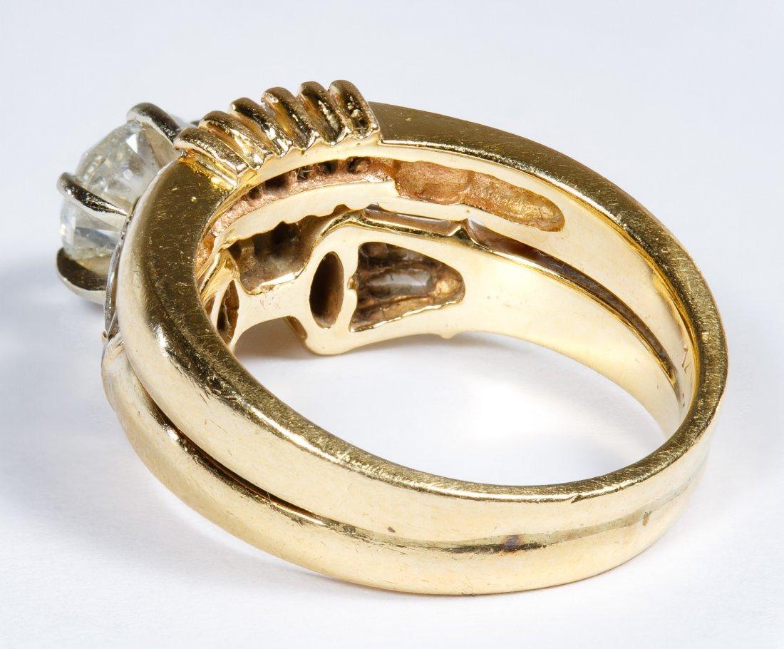 14k Gold and Diamond Wedding Ring Set - 2