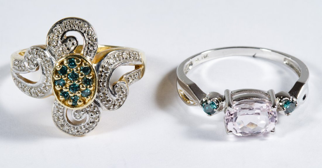 14k Gold and Gemstone Rings