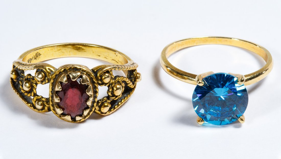 14k Gold and Semi-precious Gemstone Rings