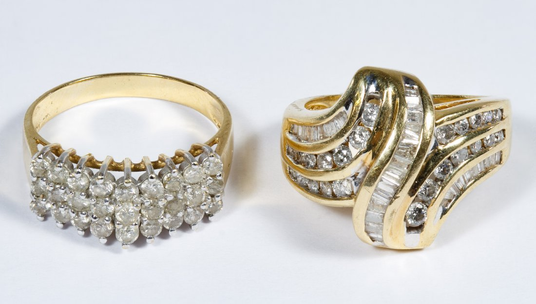 10k Gold and Diamond Rings