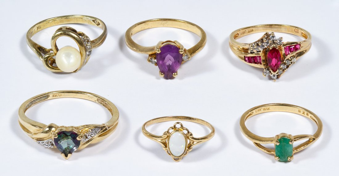 10k Gold and Gemstone Rings