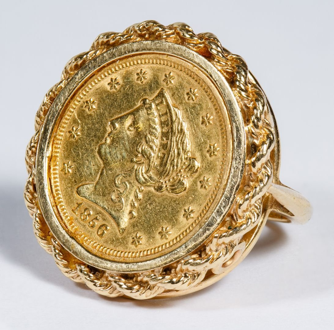14k Gold and $2 1/2 Gold Coin Ring