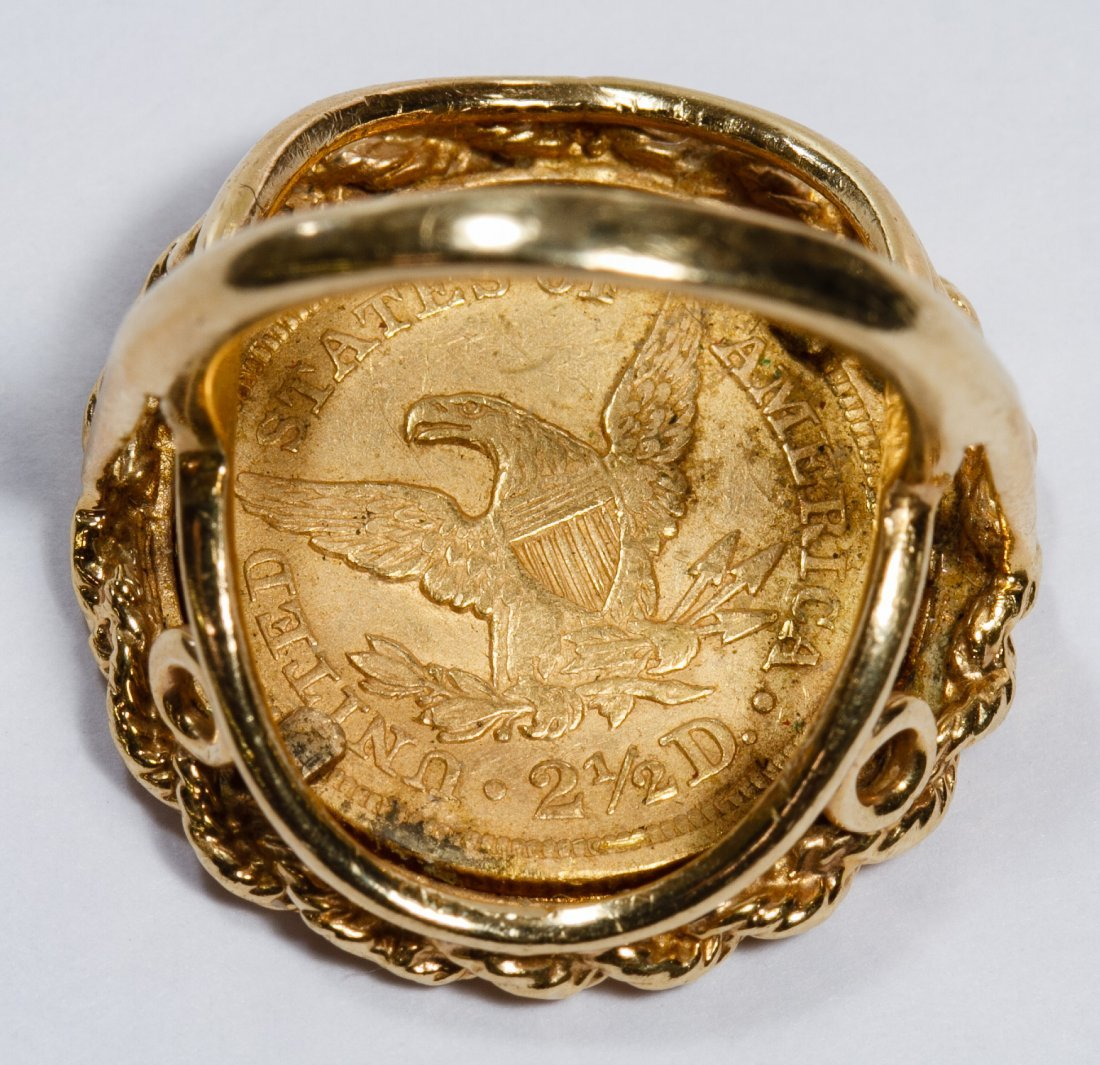 14k Gold and $2 1/2 Gold Coin Ring - 3