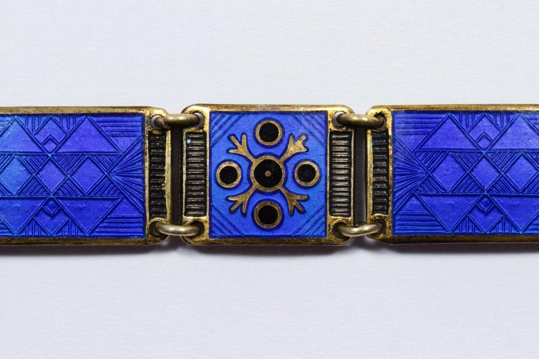 Bernard Meldahl Sterling Silver Guilloche Bracelet - 4
