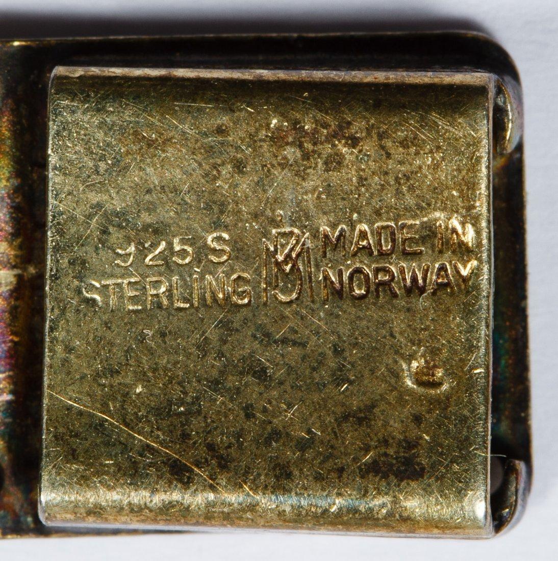 Bernard Meldahl Sterling Silver Guilloche Bracelet - 5