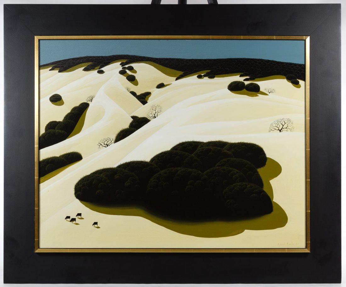 Eyvind Earle (American, 1916-2000) 'Rolling Hills' Oil