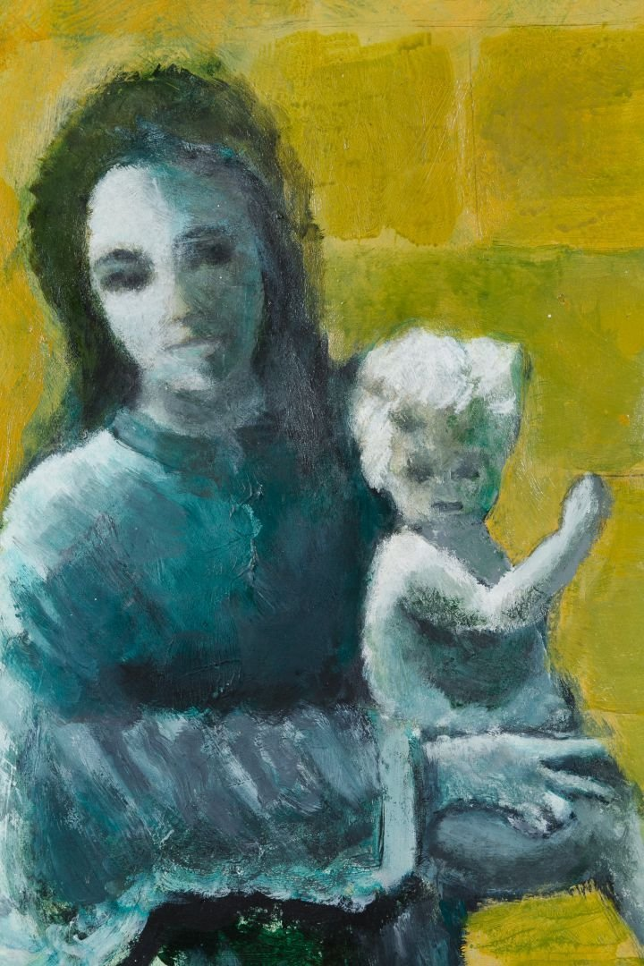 Gaines (American, 20th Century) 'Mother and Child' Oil - 2